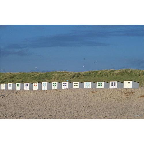 Sweet Living Schilderij Canvas Strandhuisjes