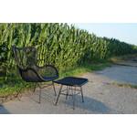 Sweet Living Voetenbankje Zwart - 62x46xH41 cm