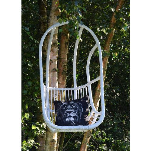 Sweet Living Witte Rotan Hangstoel - 67x63xH125 cm