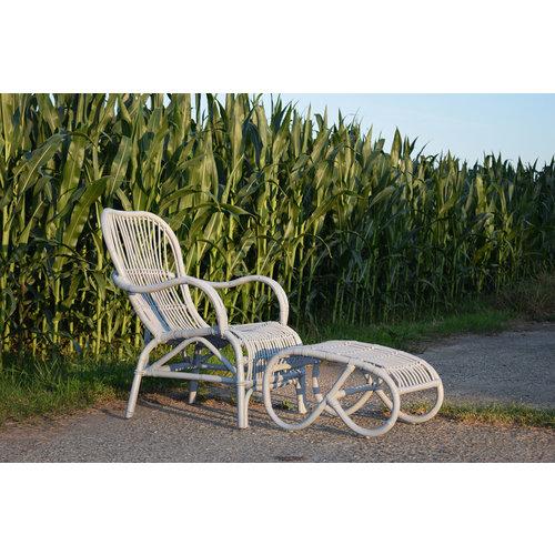 Sweet Living Grijze Loungestoel Rotan - 67x80xH86 cm