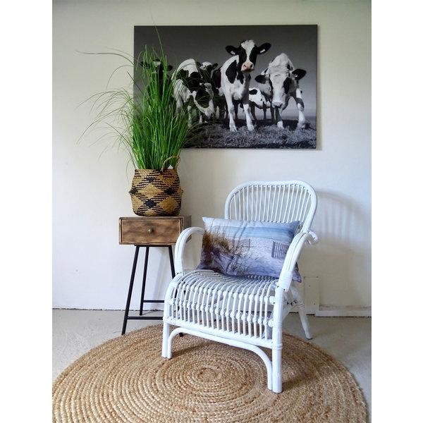 Sweet Living Loungestoel Wit Rotan - 67x80xH86 cm