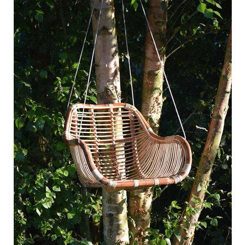 Sweet Living Fly Hangstoel Grof riet naturel - 66x65xH49 cm
