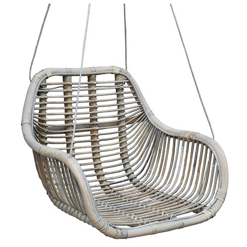 Sweet Living Rotan Hangstoel Fly Greywash - 66x65xH49 cm