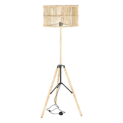 Sweet Living Driepoot Vloerlamp Rotan - Ø50xH165 cm