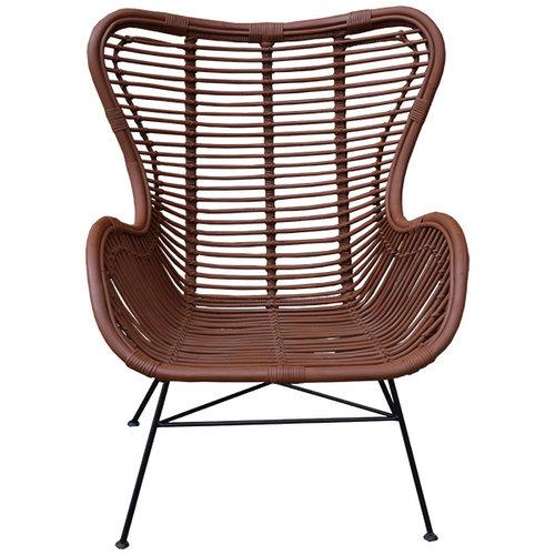 Sweet Living Roestbruine Vlinderstoel - 70x76xH90 cm