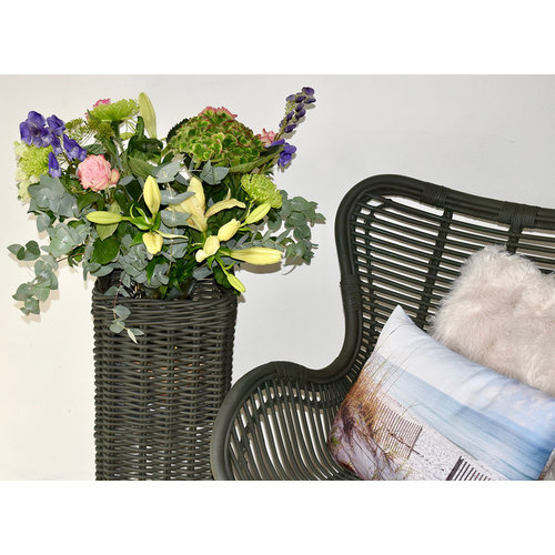 Sweet Living Legergroene Vlinderstoel - 70x76xH90 cm