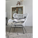 Sweet Living Rotan Egg Chair Wit - 70x76xH90 cm