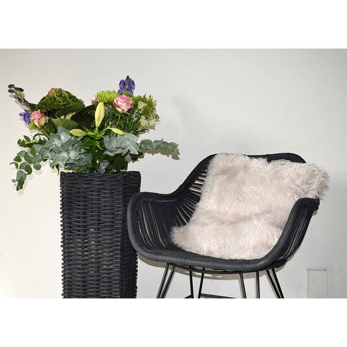 Sweet Living Antracietgrijze Kuipstoel - 65x55xH80 cm
