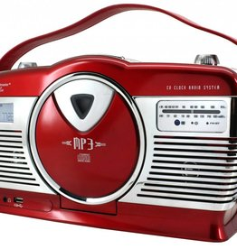 Soundmaster Retro radio/cd-speler RCD1350 (rood)