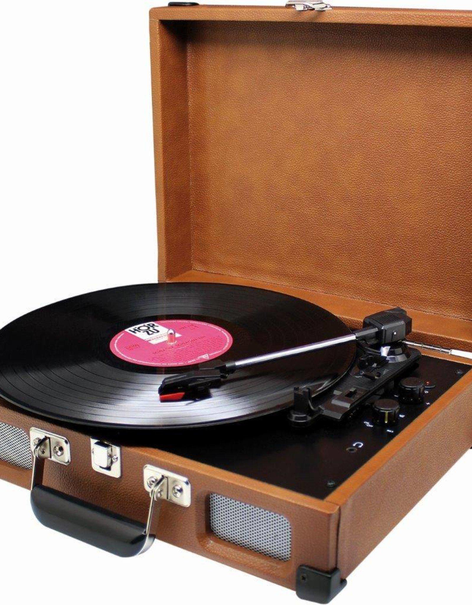 Soundmaster Koffermodel platenspeler PL580 bruin