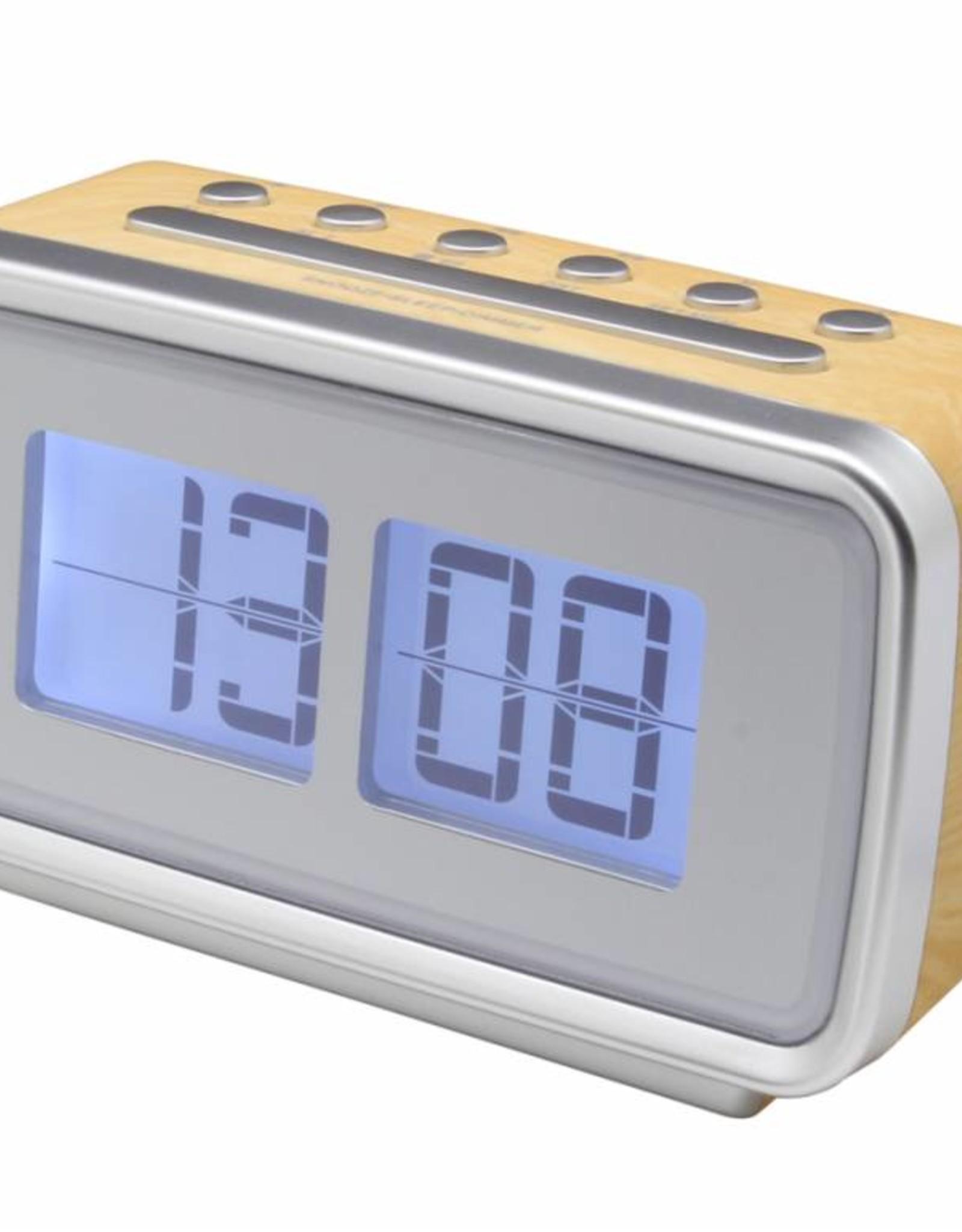 Soundmaster Wekkerradio in retro stijl UR105 lichte houtkleur