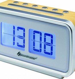 Soundmaster Wekkerradio in retrostijl UR105 lichte houtkleur