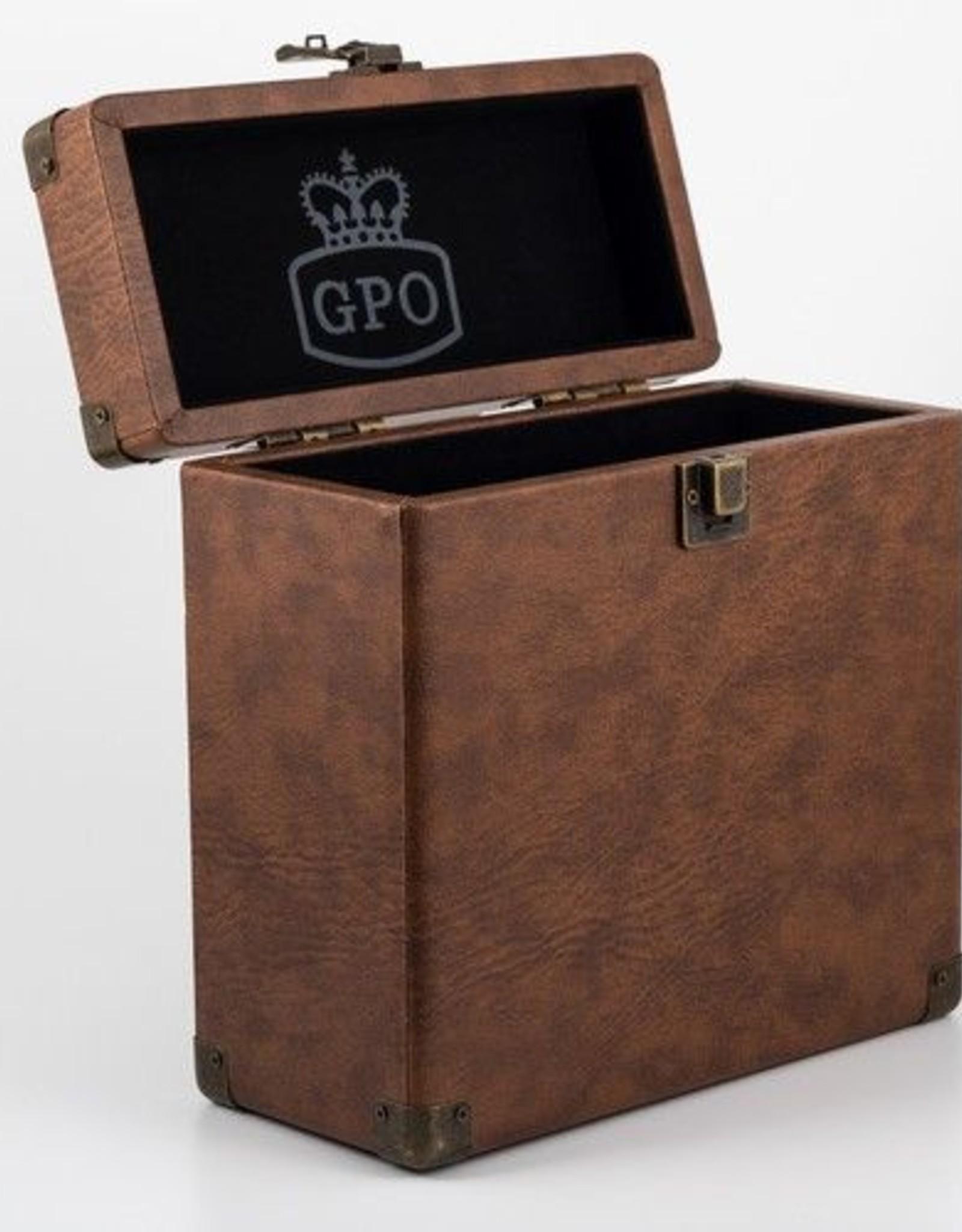"GPO GPO 7"" opbergkoffer voor singles - bruin"