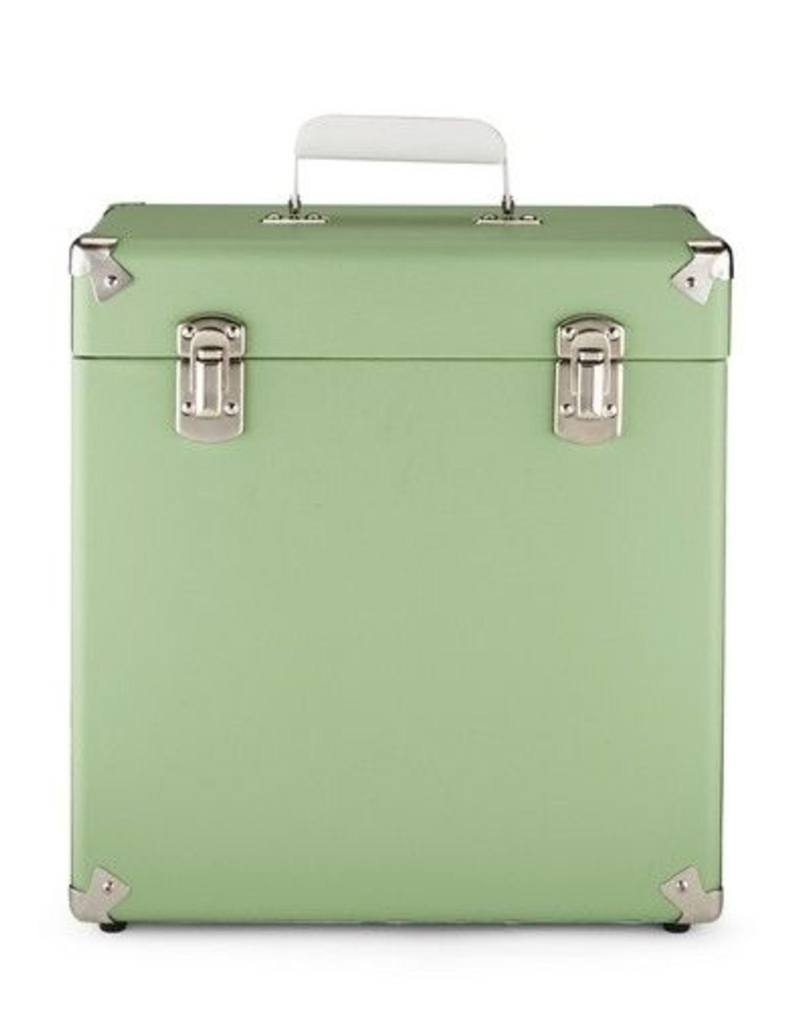 """GPO GPO 12"""" opbergkoffer voor vinyl - groen"""