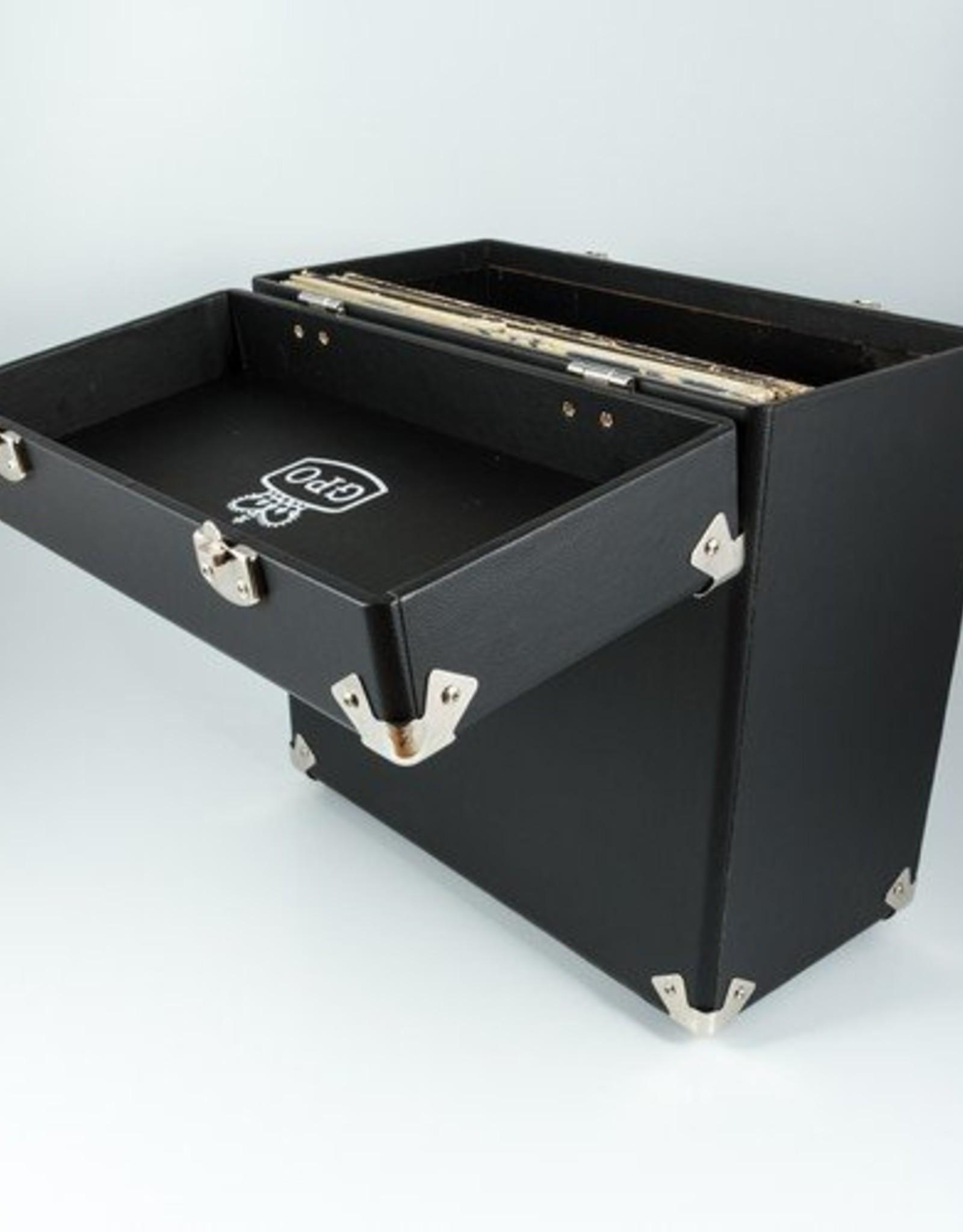 """GPO GPO 12"""" opbergkoffer voor vinyl - zwart"""