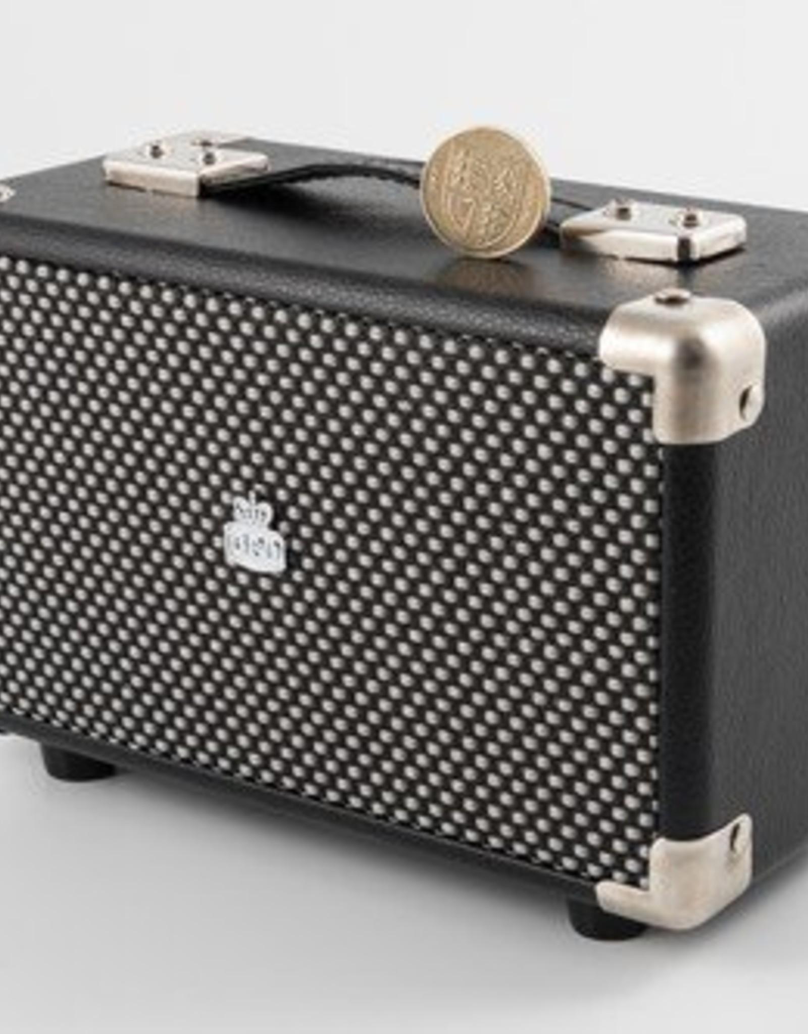 GPO GPO Compacte retro bluetooth speaker - zwart