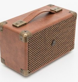 GPO GPO Compacte retro bluetooth speaker - bruin