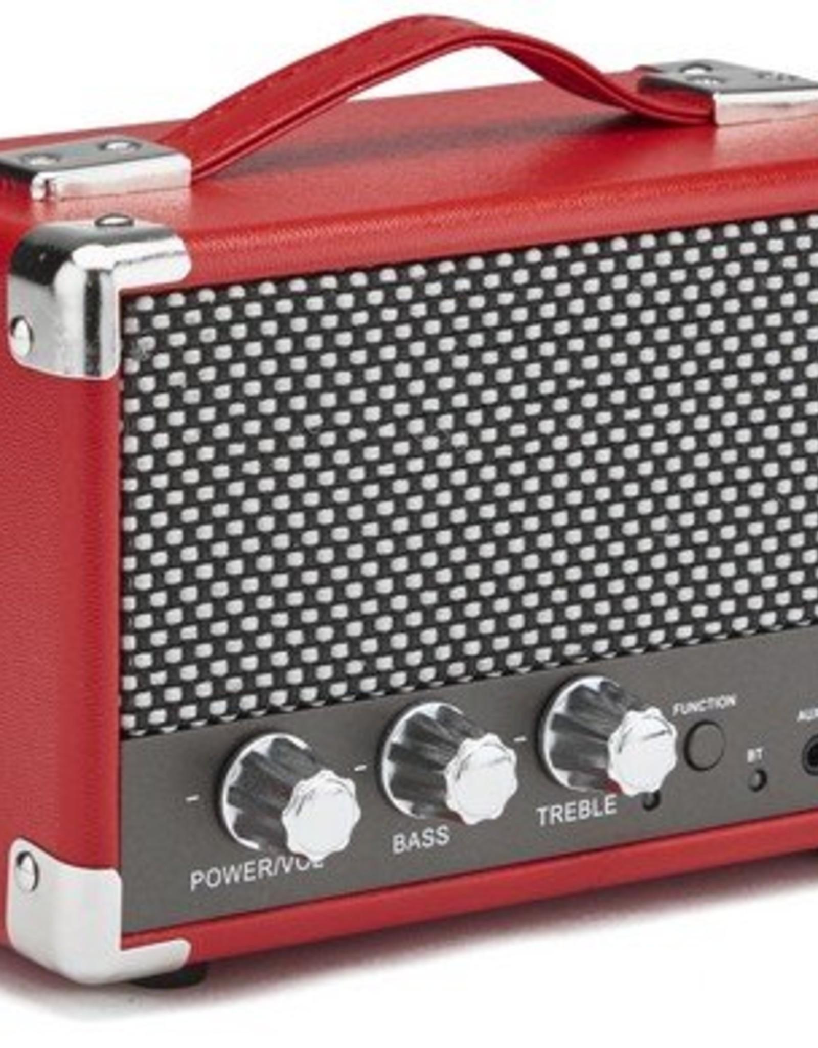 GPO GPO Compacte retro bluetooth speaker - rood