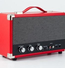 GPO GPO Nostalgische bluetooth speaker - rood
