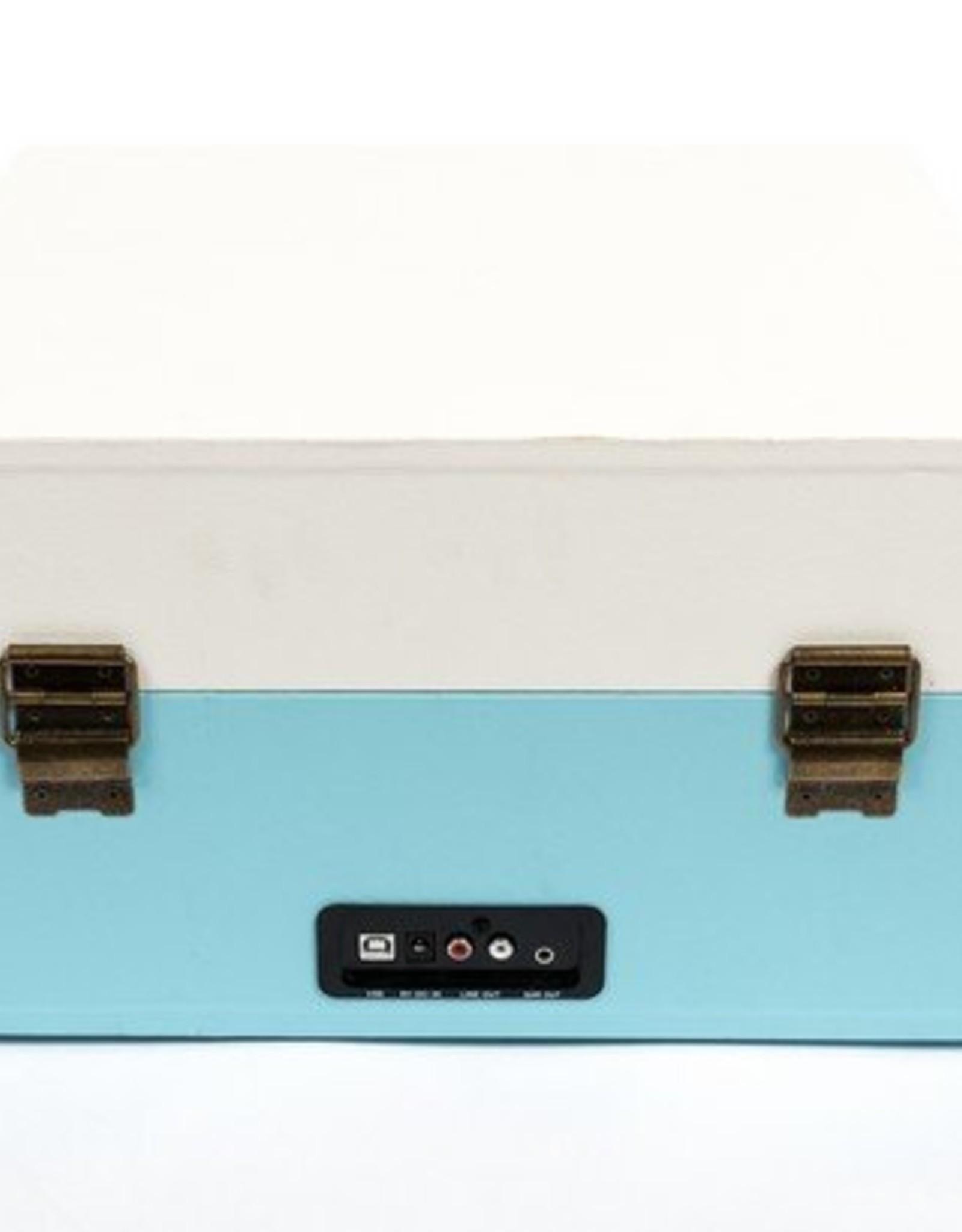 GPO GPO Kofferplatenspeler op pootjes - blauw