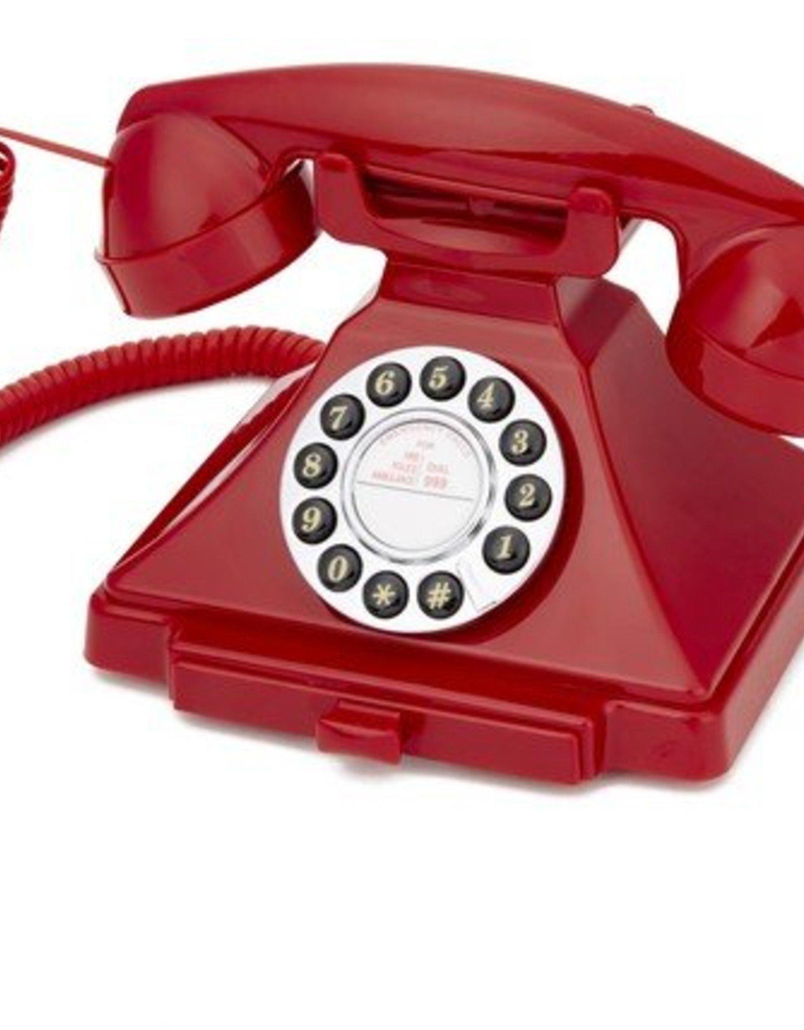 GPO GPO Klassieke telefoon Carrington - rood