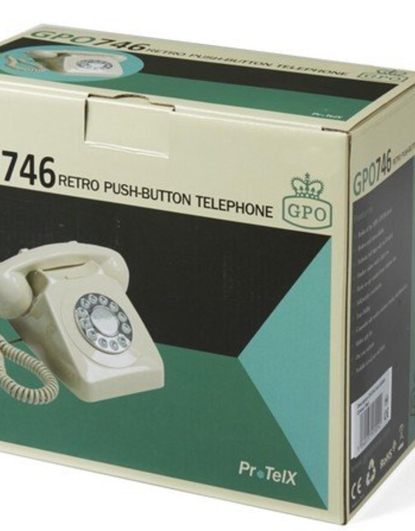 GPO GPO Retro telefoon 746 PUSH - zwart