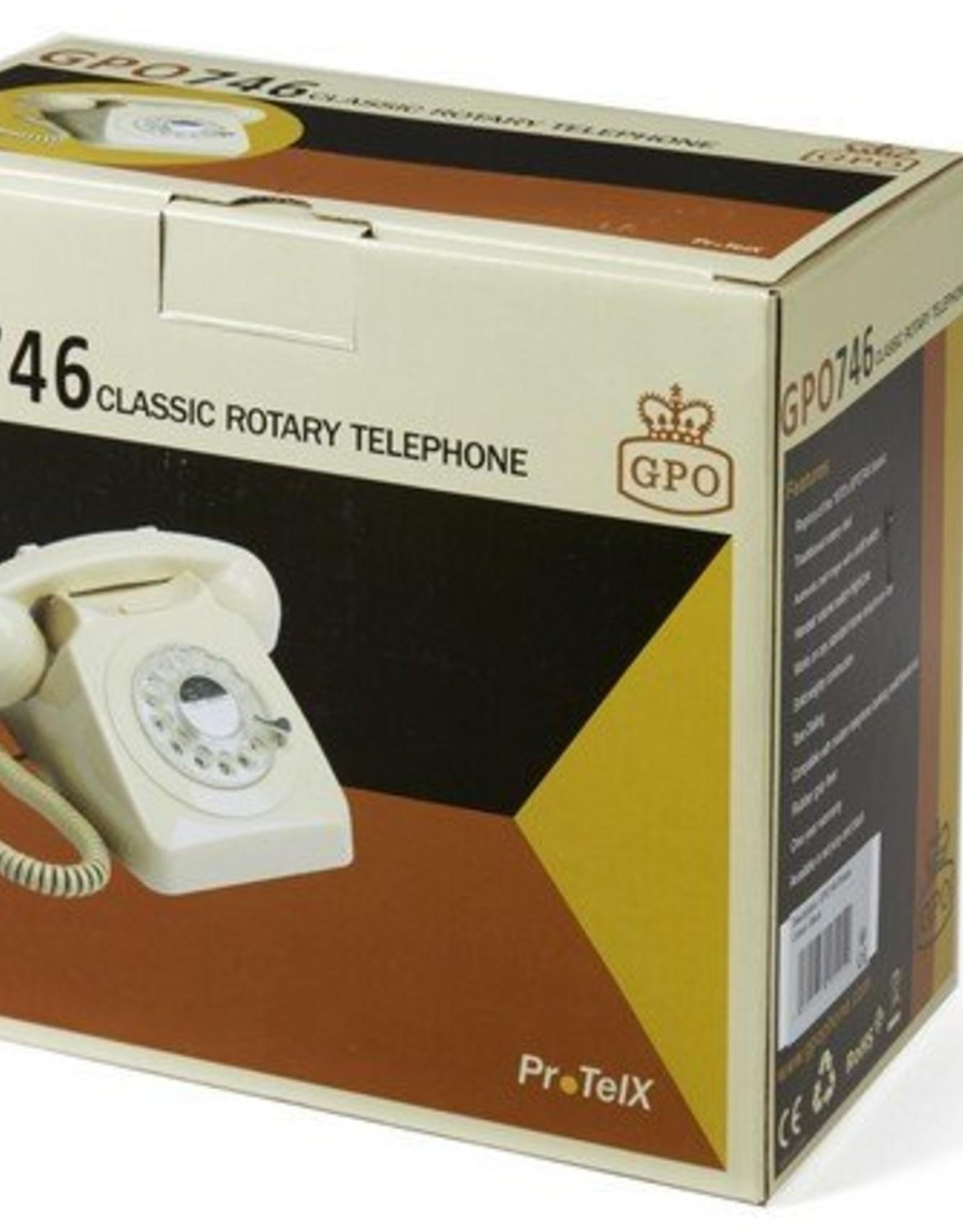 GPO GPO Klassieke telefoon 746 ROTARY - rood