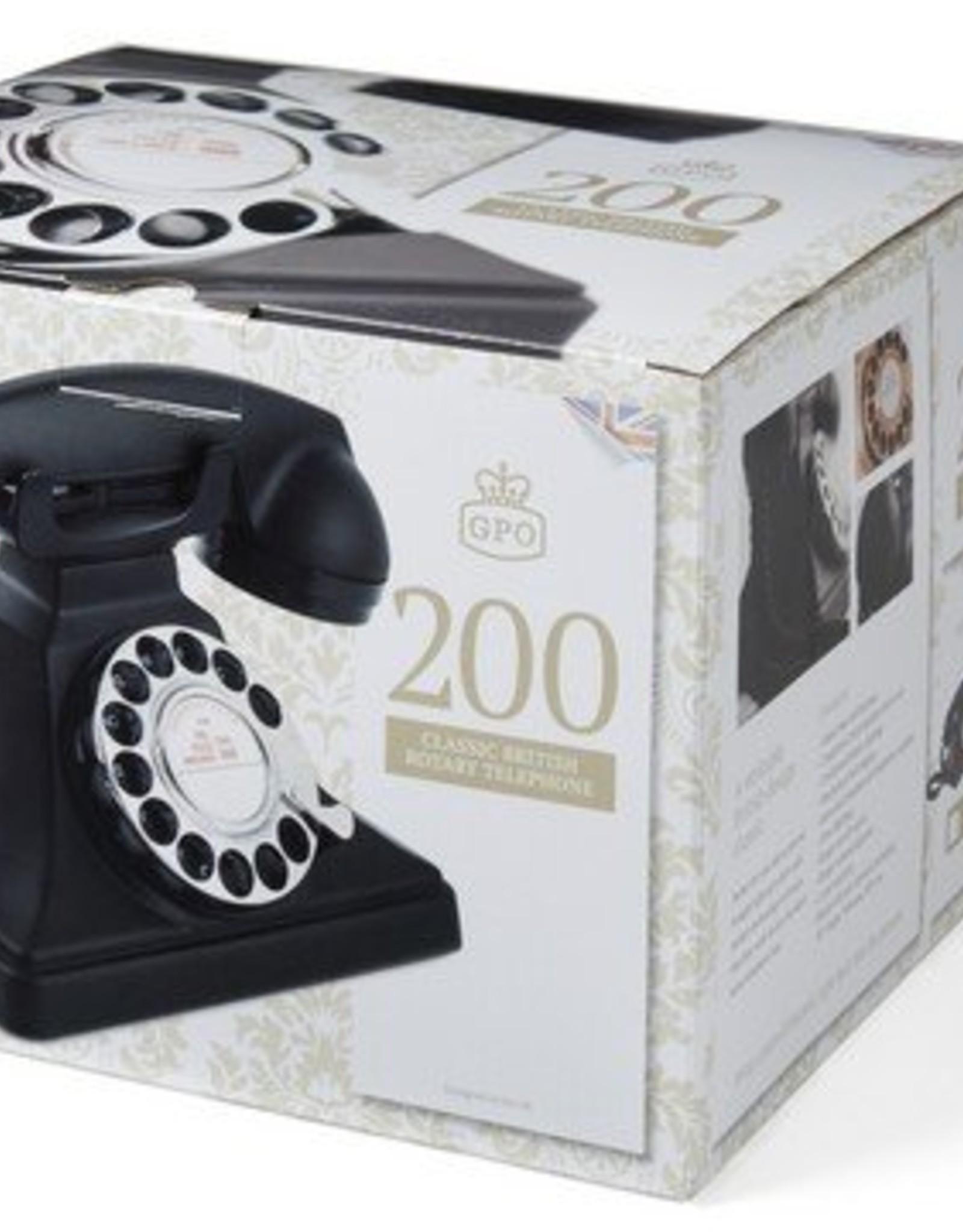 GPO GPO Telefoon met draaischijf 200 - zwart