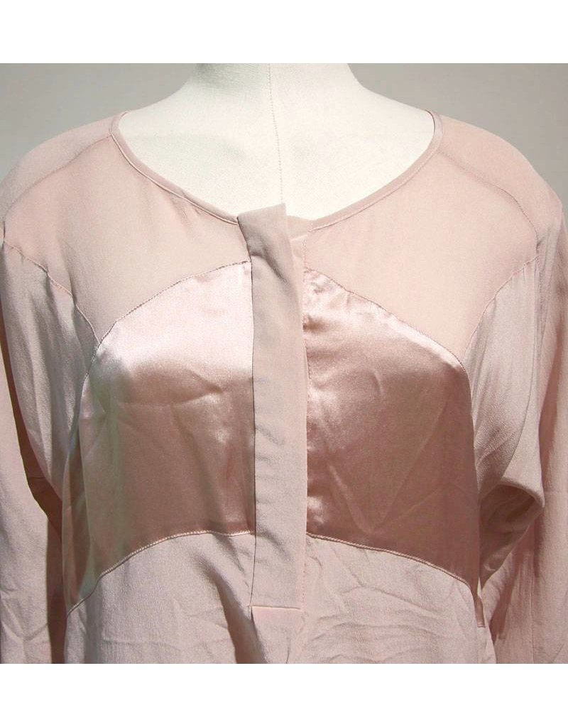 Dante 6 oudroze blouse 3 soorten zijde