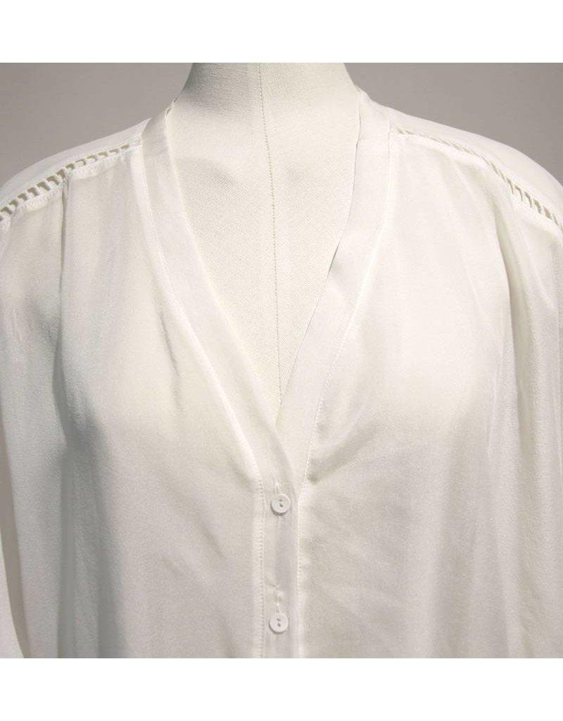 Dante 6 creme zijde oversized blouse