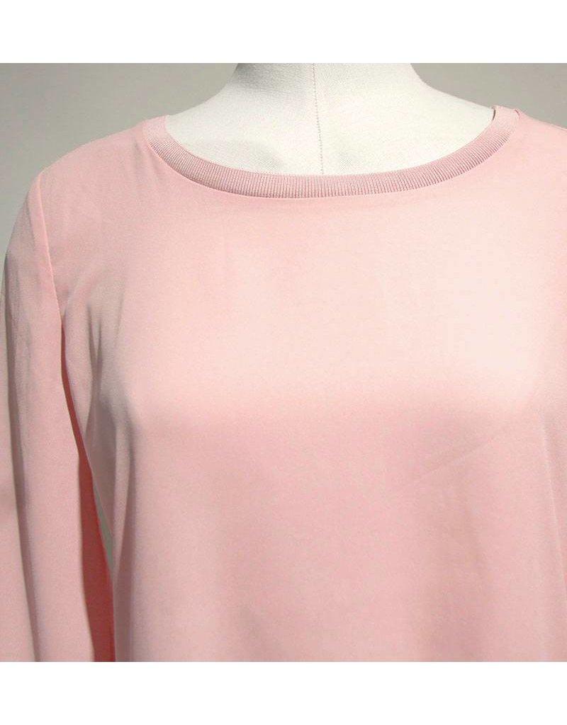 Dante 6 roze blouse 2 soorten stof