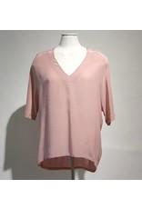 Dante 6 oudroze blouse zijde/tricot