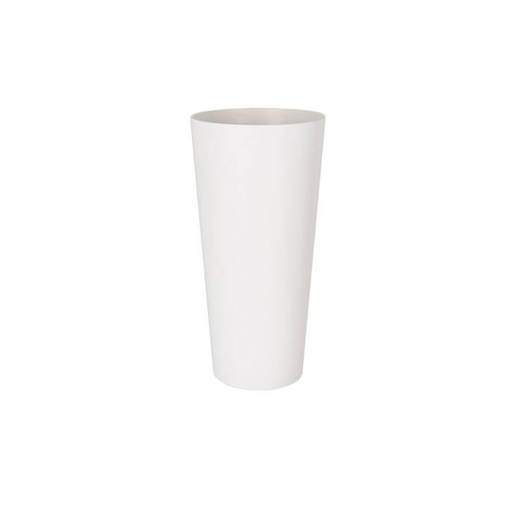 Ikala Hoge kunststof bloempot wit D37xH80 Monaco