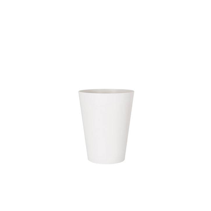 Ikala Kunststof bloempot wit D40xH50 Monaco