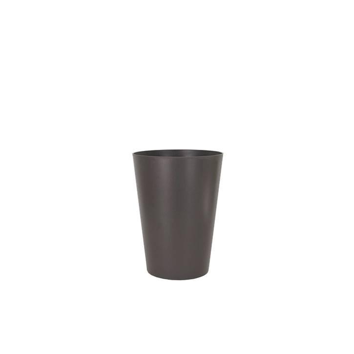 Ikala Kunststof bloempot grijs D40xH50 Monaco