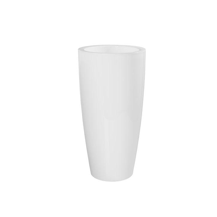 Ikala Hoge bloempot 'Vaso' 33 cm x 65 cm | Wit