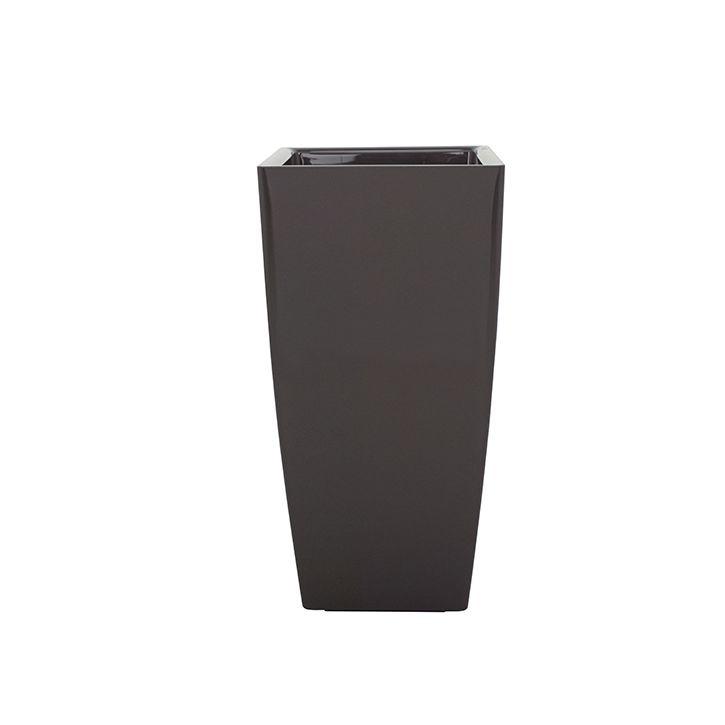 Ikala Hoge plantenbak voor binnen 'Vaso SQ'  33 cm x 60 cm | Antraciet