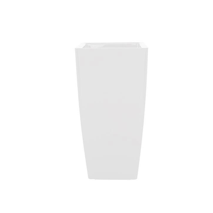 Ikala Hoge plantenbak voor binnen 'Vaso SQ'  33 cm x 60 cm | Wit