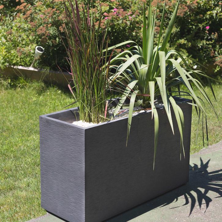 Ikala Grote plantenbak voor buiten en binnen 100 cm | Grijs | Ripple