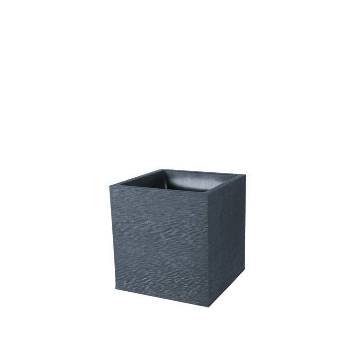 Ikala Vierkante plantenbak voor binnen en buiten 50x50x50cm | Grijs | Ripple