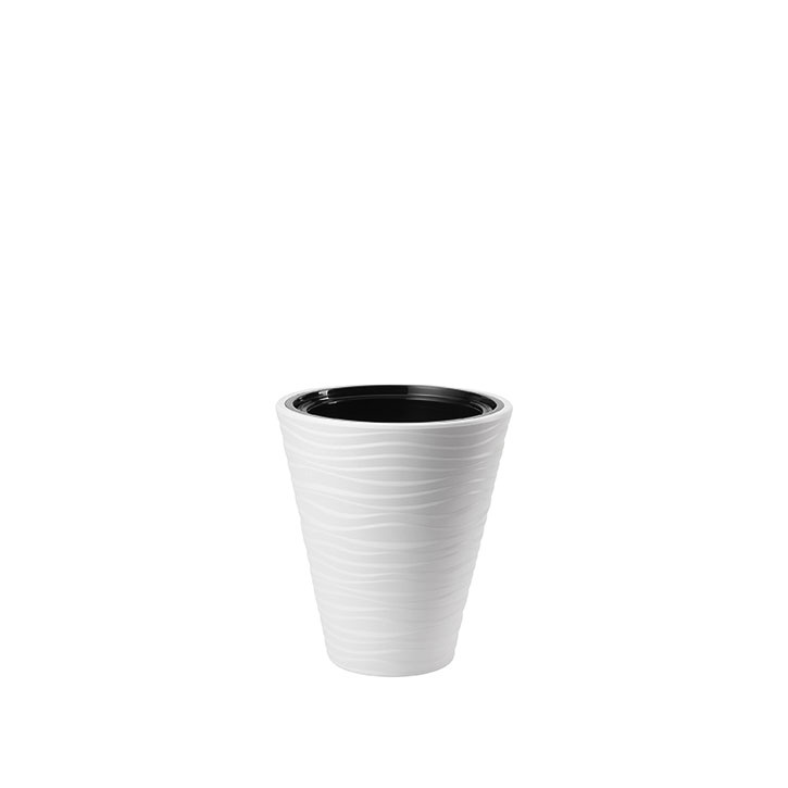 Ikala Witte  bloempot  binnen & buiten 'Wave' 40 cm x 44 cm (Nieuw Model)