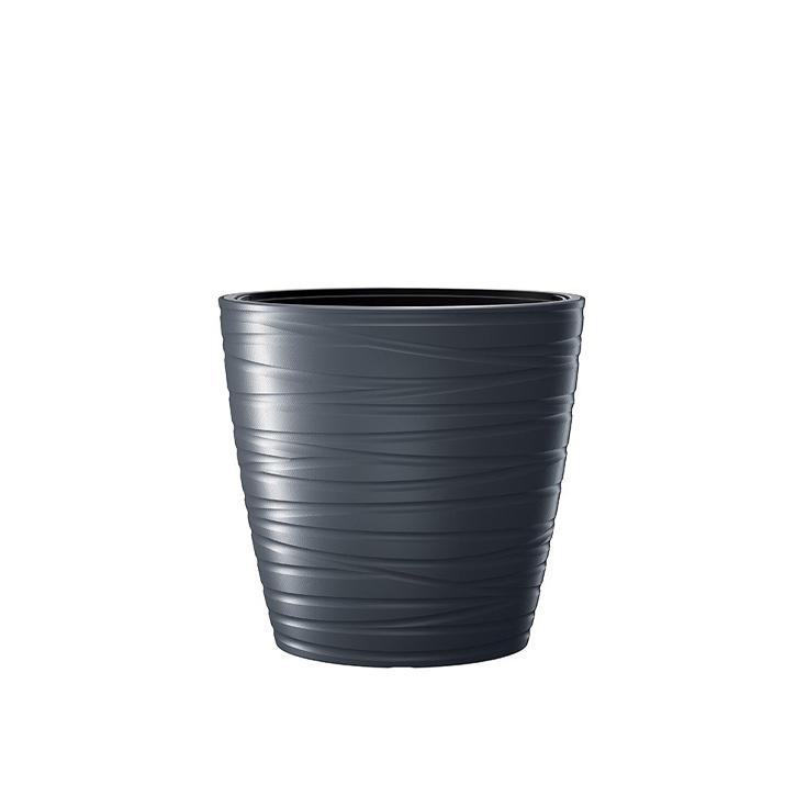Ikala NIEUW! Hoge ovale bloempot 'Dazz' |  antraciet | 60 cm |binnen & buiten