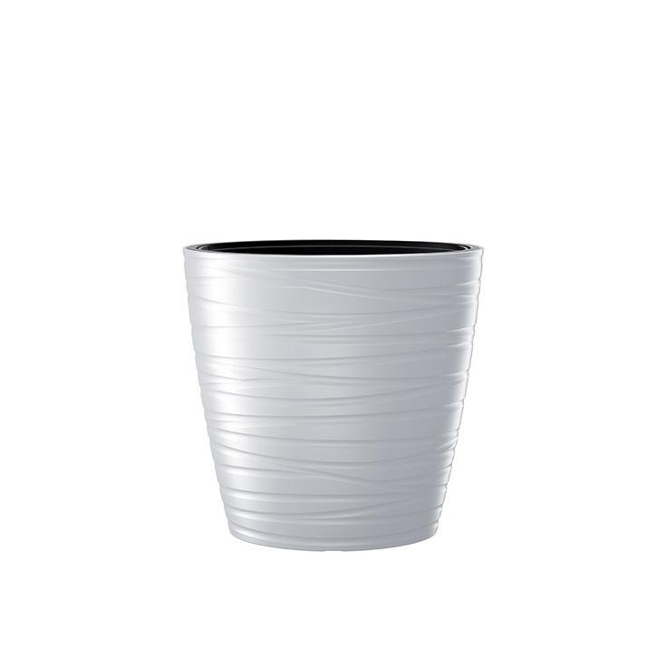 Ikala NIEUW! Hoge ovale bloempot 'Dazz' |  wit | 60 cm |binnen & buiten