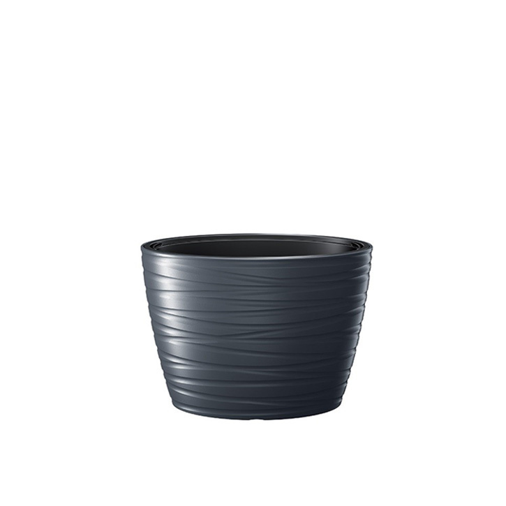 Ikala NIEUW! Ovale bloempot 'Dazz' |  Antraciet | 60 cm | binnen & buiten
