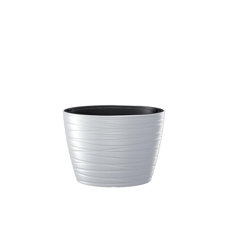 Ikala NIEUW! Ovale bloempot 'Dazz' |  Wit | 60 cm | binnen & buiten