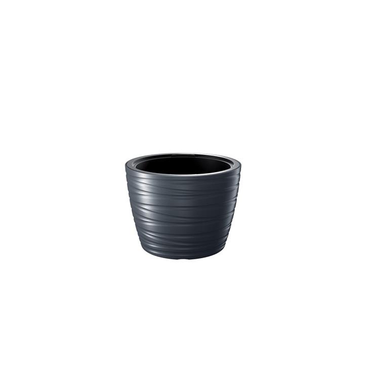 Ikala NIEUW!  Ronde bloempot 'Dazz' | Antraciet | 40 cm |binnen & buiten