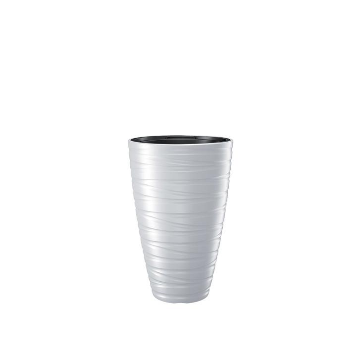 Ikala NIEUW!  Hoge bloempot 'Dazz' |  Wit | 60 cm | binnen & buiten