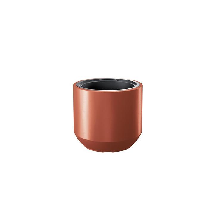 Ikala NIEUW!  Cilinder bloempot 'Solid' |  Koper | 40 cm | binnen & buiten