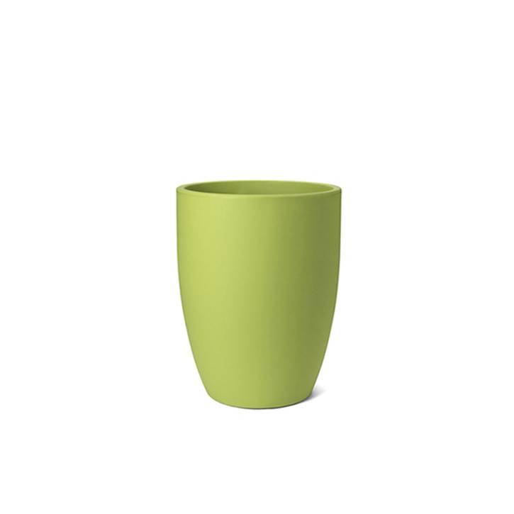 Ikala Hoge groene kunststof bloembak Isa H50