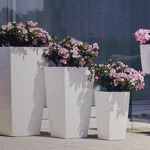 Hoogglans bloempotten voor binnen en buiten 'Bright'